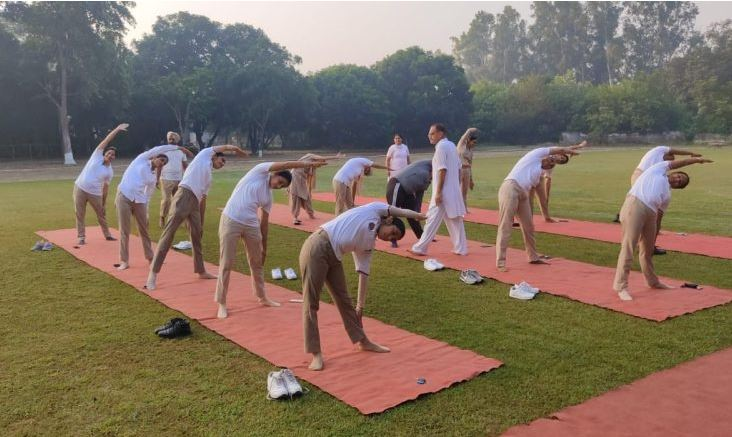 Punjab police organises 'Yoga Over Webinar' program for its women officers