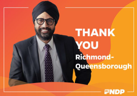 Amandeep Singh, the proud turbaned NDP candidate shares his campaign success