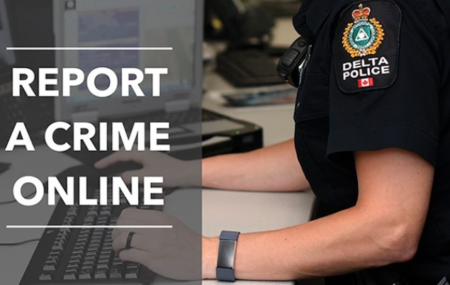 A new online reporting tool launched by Delta Police