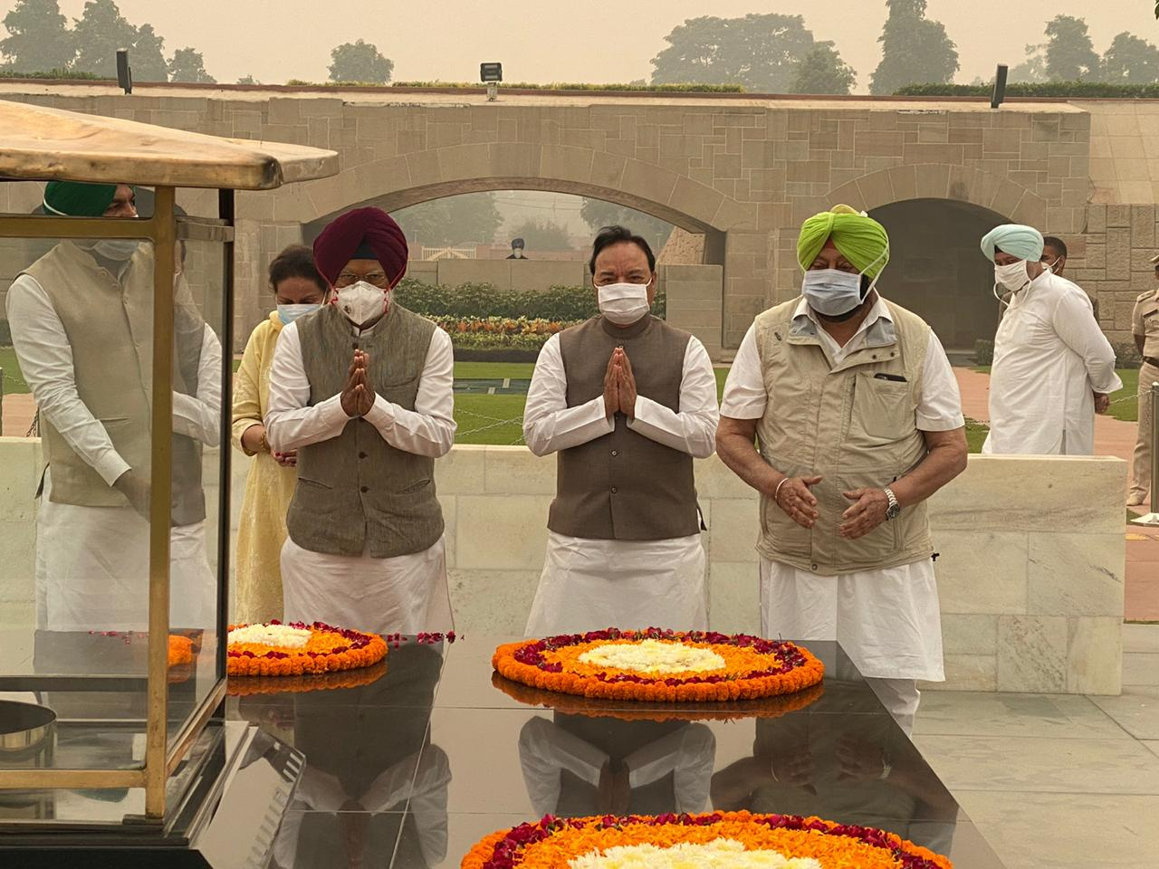 Punjab CM Capt Amarinder Singh launches mission from Rajghat to save Punjab and its farmers