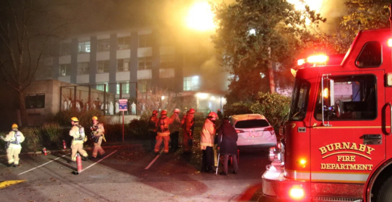 Fire at Burnaby Hospital