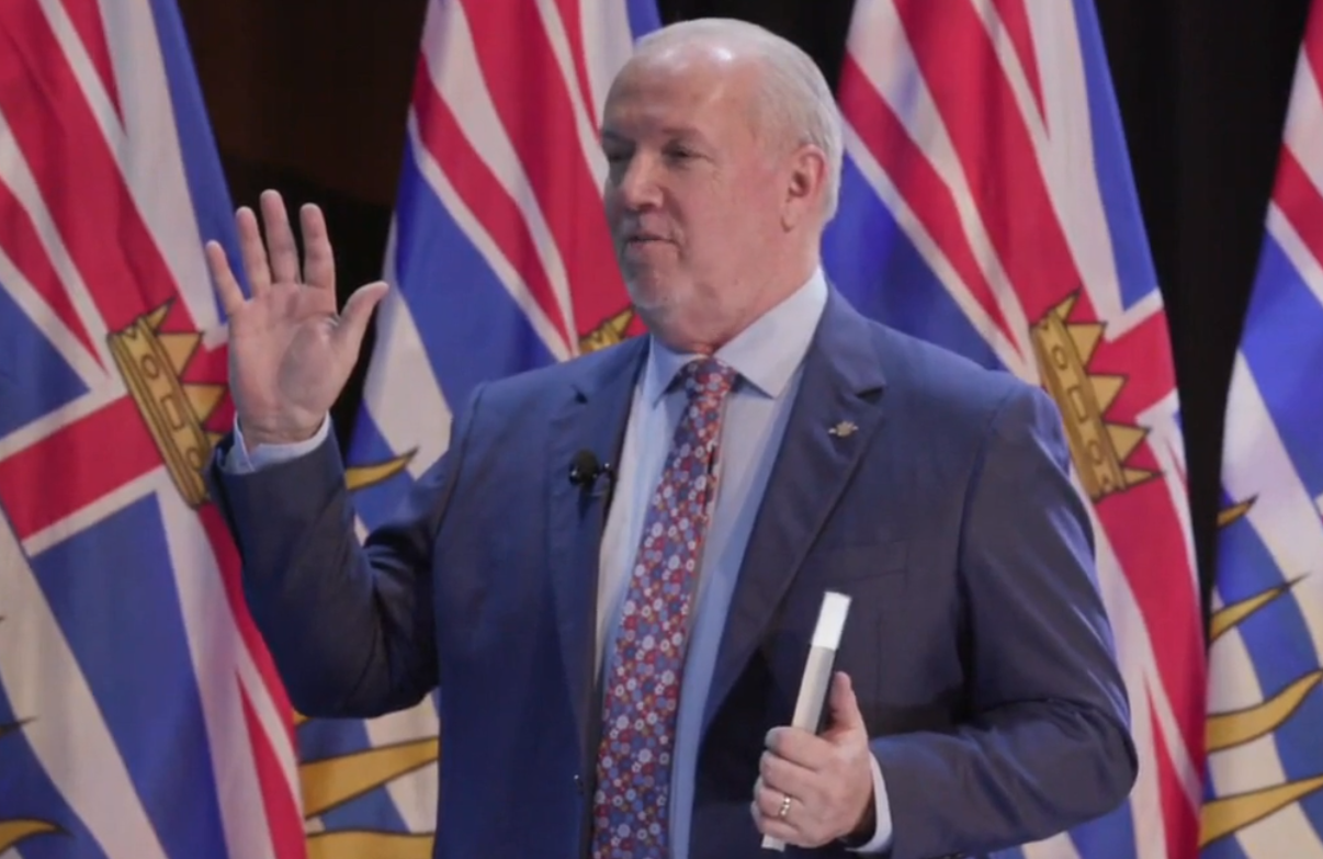John Horgan briefing about his new team and plans to fight with covid-19