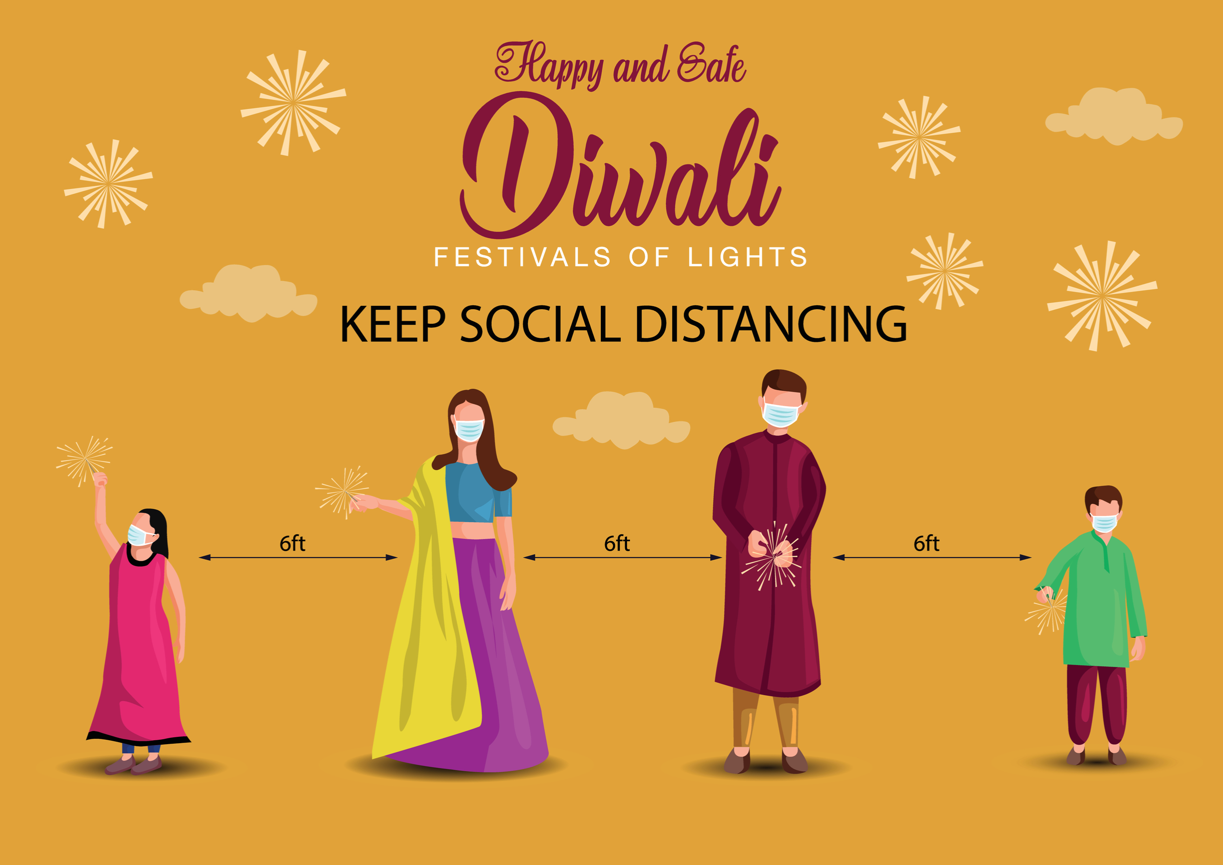 Celebrate Covid Safe Diwali says Health Officials