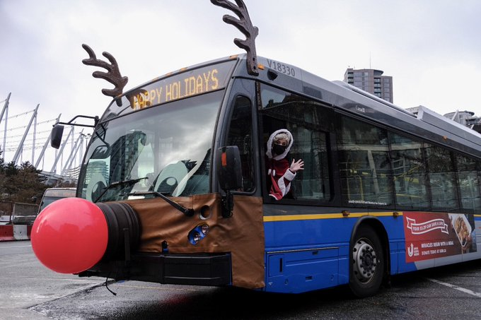 Translink rolling out 9 reindeer buses to hit Metro Vancouver roads this Christmas