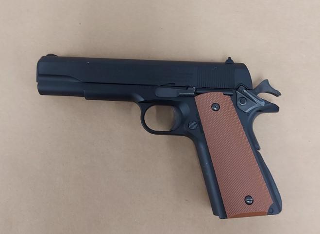 Firearm brandished, youth in custody