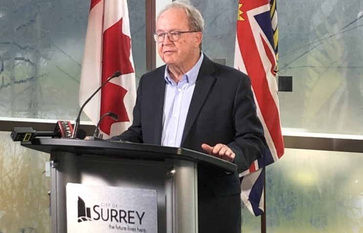 Surrey Mayor Doug McCullum announces immediate measures to help struggling restaurants industry amid Covid-19 restrictions