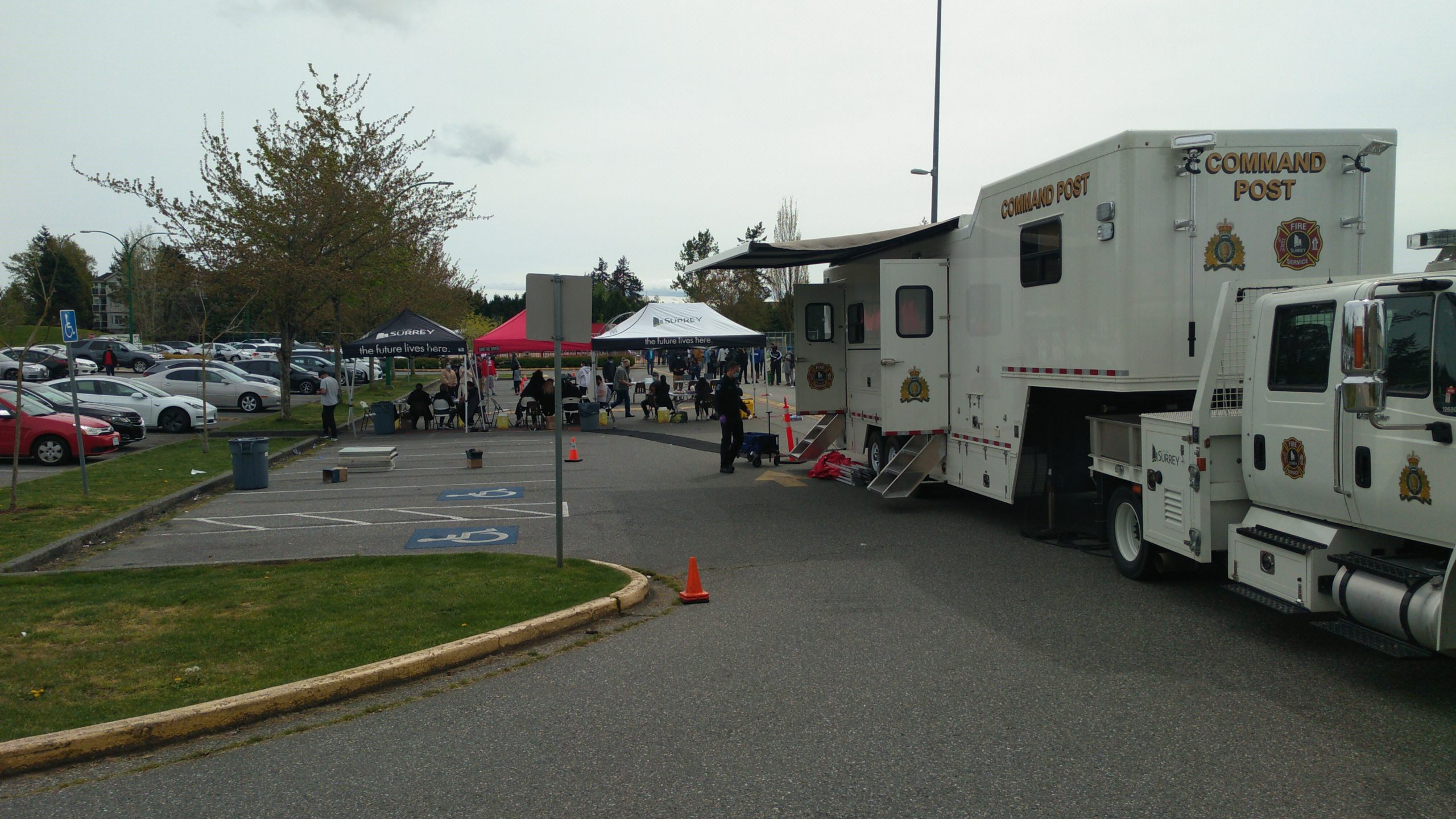 Surrey Firefighters helping Fraser Health in Covid-19 Vaccination