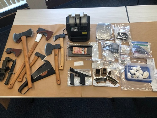 Burnaby RCMP's Drug Section seizes drugs, weapons and cash