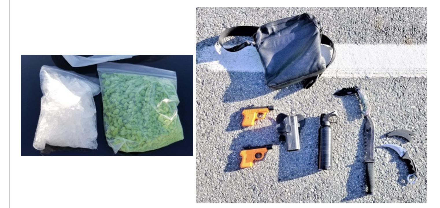 Bulk fentanyl and methamphetamine seized by Surrey Gang Enforcement Team