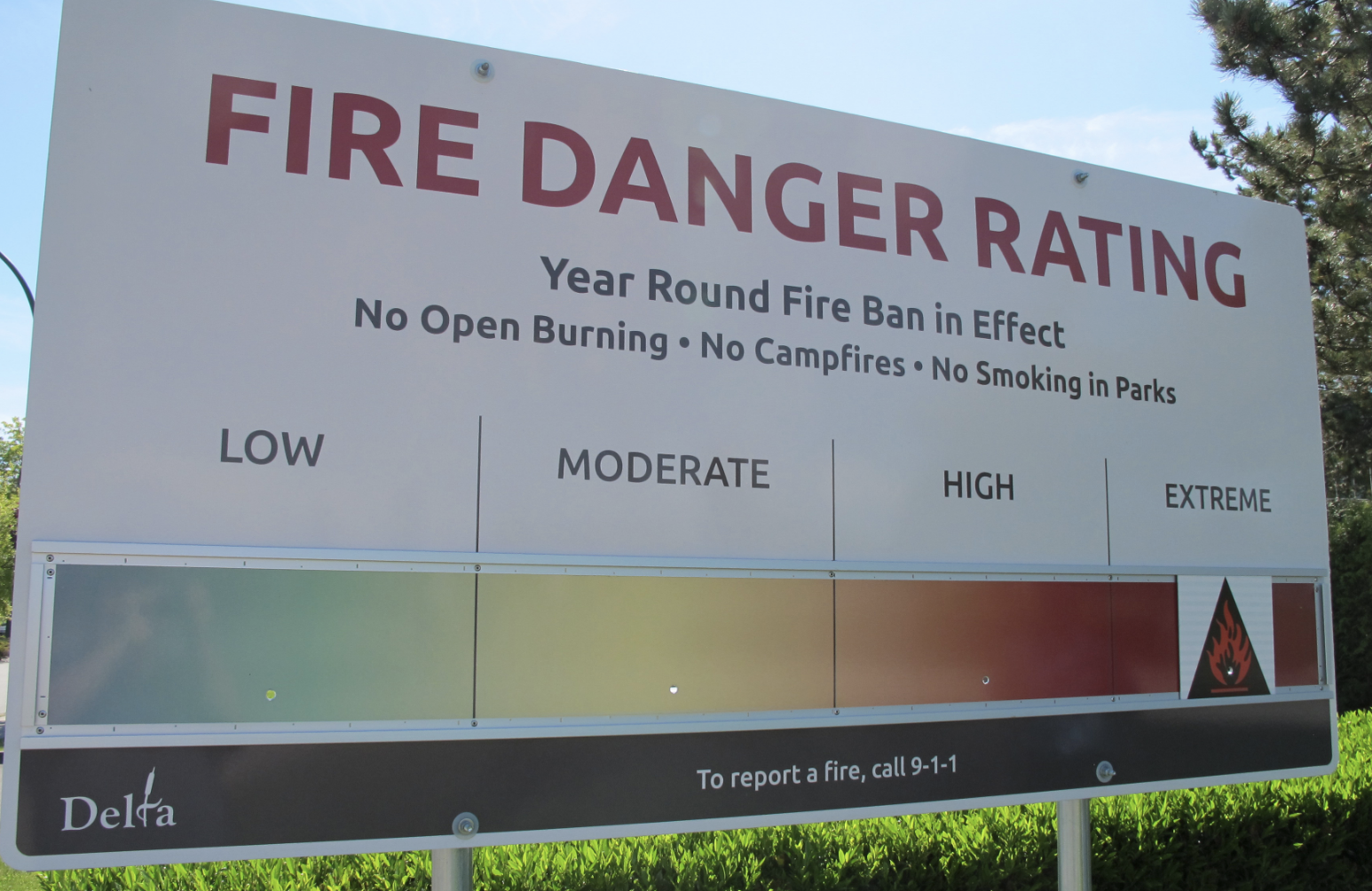 Fire Hazard Rating Raised to Extreme